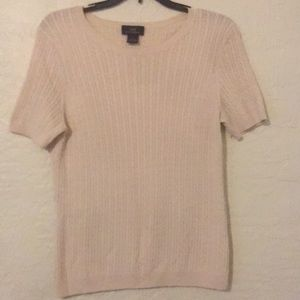 Brooks Brothers Woman's Short Sleeve Sweater